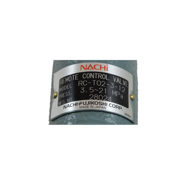 Nachi Remote Controlled Relief Valve rc-t02-3-12